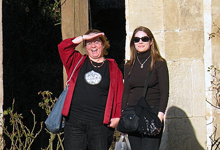Patty and Xaviere at Hameau de la Reine