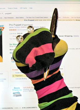 Sock Puppets writing reviews